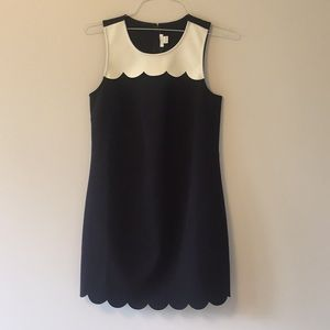 NWT.  JCrew Dress in Black and White - Size 2